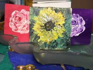 Mini Floral Paintings (Ref Magnets)
