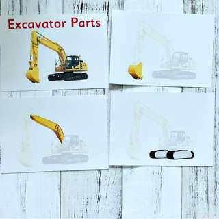 🚚 Flashcards Excavator Parts (HEGURU, SHICHIDA, RIGHT BRAIN TRAINING) BRAND NEW Flashcards for right brain training