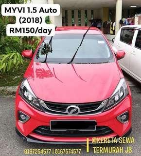 Car Rental Myvi 1.5 New 2018 Auto