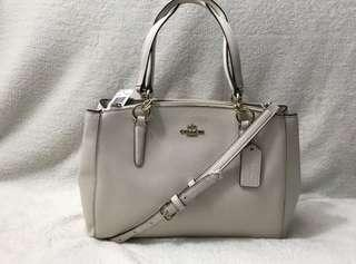 Brandnew Authentic White Leather Coach Bag