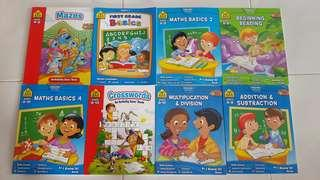 Brand new School zone workbook beginning reading math mazes first grade basics