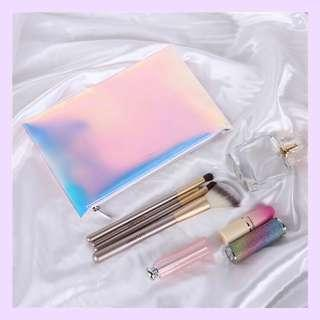 INTERNET Holographic Makeup Pouch