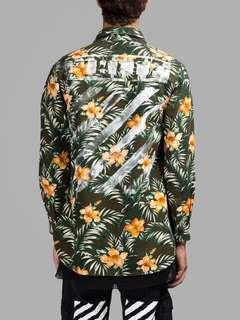 OFF-WHITE S/S 15 FLORAL SHIRT