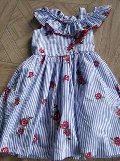 rare editions embroidered dress