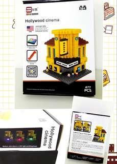 Clear stocks Mini Blocks Lego with LED lights
