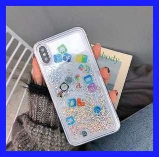 INTERNET Apple Applications Liquid Glitter iPhone Case