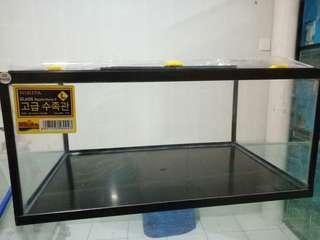 glass reptil home uk L (16liter) pengiriman via gosend atau grab