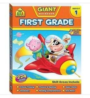 Brand new Giant Workbook First Grade