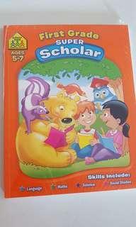 Brand new First Grade super scholar workbook