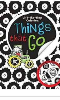Things that Go lift the flap coloring busy book