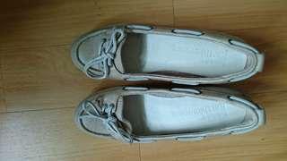Timberland 船踭杏色真皮帆船鞋6.5/23.5碼
