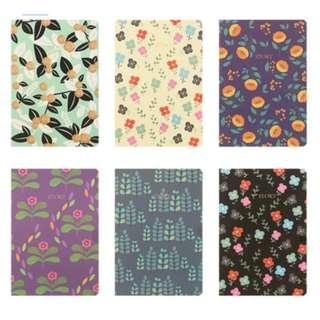 100pc floral notebooks