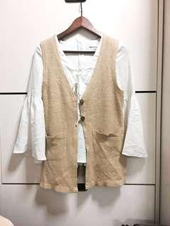 Wool outer cardi vest