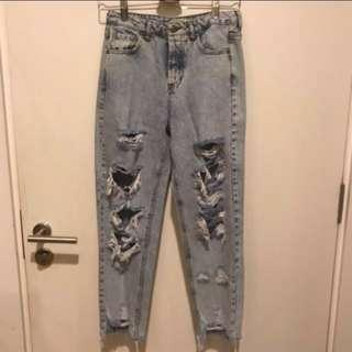 INC Postage Pull N Bear distressed ripped denim jeans