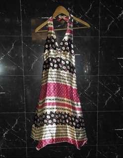 Halterneck Dress in Scarf