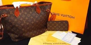LV Neverfull Mono with Freebies