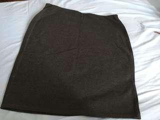 PRE-LOVED Dark Grey Pencil Skirt [Medium]
