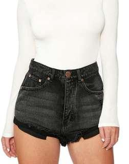 back denim shorts XS size 6