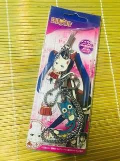 Made in Japan 妖精的尾巴貓貓金屬電話繩