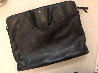 Fossil leather bag briefcase work bag