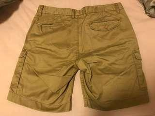 "Men twill 9"" cargo short in khaki color"
