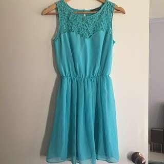Aqua green dress