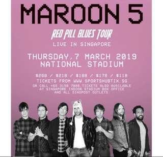 3 x cat5 (Maroon 5 physical tickets)