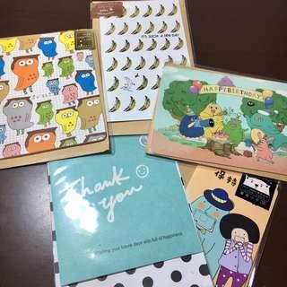🚚 五張卡片組合 萬用卡片 生日卡片