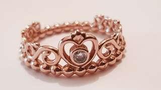 Pandora Princess Ring (Rose Gold)
