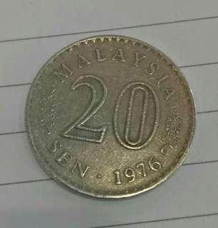 1976 - Syiling lama 20sen