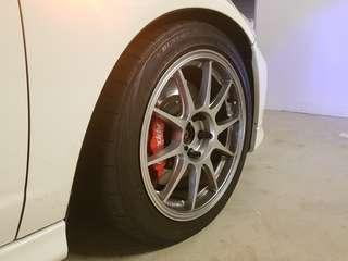 Wedsport TC105n rims and tyres