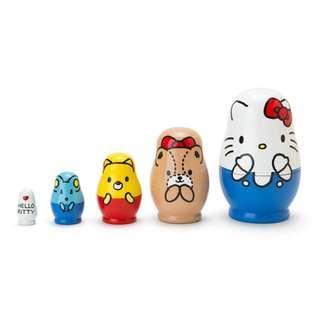 日本新貨: Hello Kitty新系之木製俄羅斯娃娃套裝