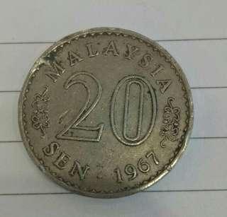 1967 - Syiling lama 20sen