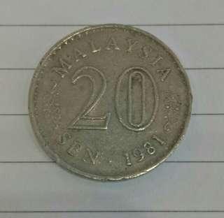1981 - Syiling lama 20sen