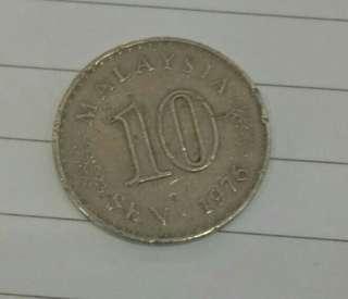 1976 - Syiling lama 10sen