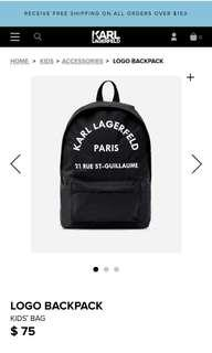 Karl Lagerfeld Embroidery Backpack(UNISEX)