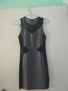 Dress H&M black gray size xs