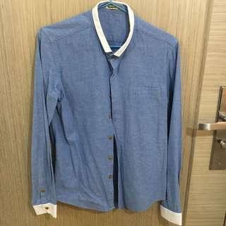 韓國款幼領恤衫