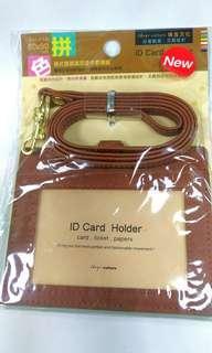 (全新!!大降價)橫式雙層識別證件套繩組,證件夾,卡套
