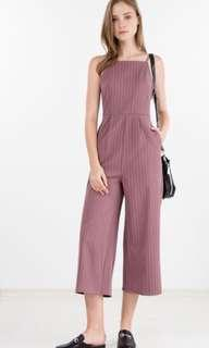 Ninthcollective Lucy Pinstripe Jumpsuit