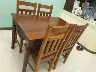Narra dining 4 seater