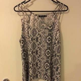 Portmans Top With Detailed Straps Size 14