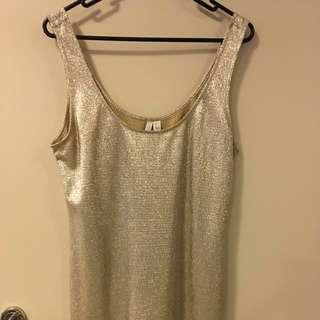 Forever New Gold Top Size 12