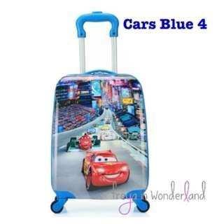 Cars Blue 4 Lightning McQueen 18 Inch Kids Luggage Suitcase Cartoon Design Gift Idea Speed Limit