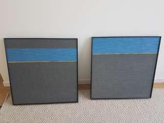 藝術畫連框 x2