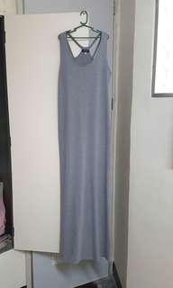 Gray sleeveless maxi dress