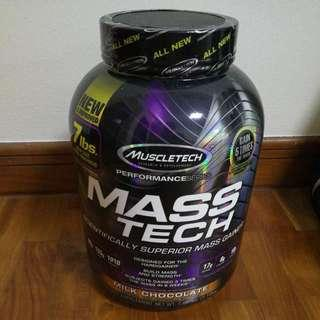MuscleTech Mass Tech Protein Powder (Milk Chocolate Flavour) Brand New Sealed In Box