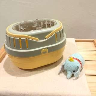 Hand carry shelter for hamster (grey-yellow)