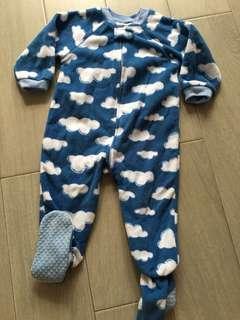 TCP Fleece sleepsuit with Footy 12-24m