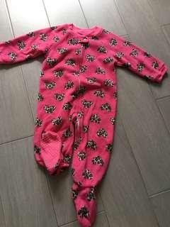 TCP Fleece Winter Sleepsuit with anti-slip footy 12-44m